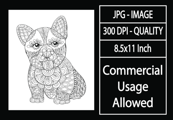Print on Demand: Adult Coloring Page 37 - Dog Graphic KDP Interiors By design-world