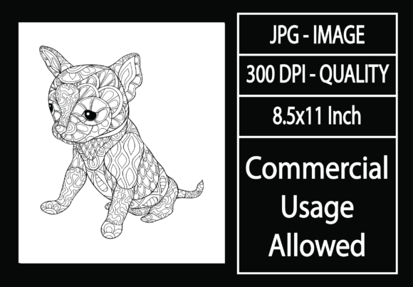 Print on Demand: Adult Coloring Page 38 - Dog Graphic KDP Interiors By design-world