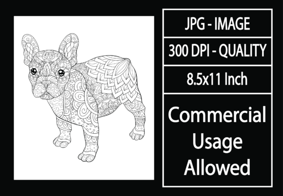 Print on Demand: Adult Coloring Page 40 - Dog Graphic KDP Interiors By design-world