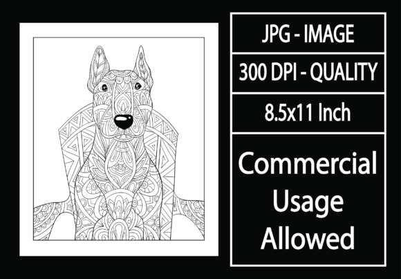 Print on Demand: Adult Coloring Page 43 - Dog Graphic KDP Interiors By design-world