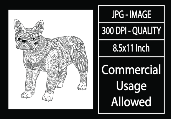 Print on Demand: Adult Coloring Page 46 - Dog Graphic KDP Interiors By design-world