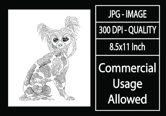 Print on Demand: Adult Coloring Page 47 - Dog Graphic KDP Interiors By design-world