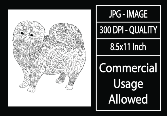 Print on Demand: Adult Coloring Page 48 - Dog Graphic KDP Interiors By design-world