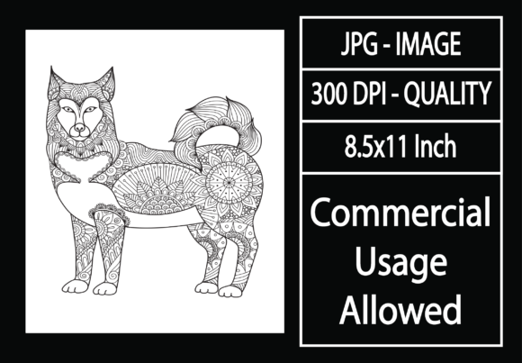 Print on Demand: Adult Coloring Page 54 - Dog Graphic KDP Interiors By design-world