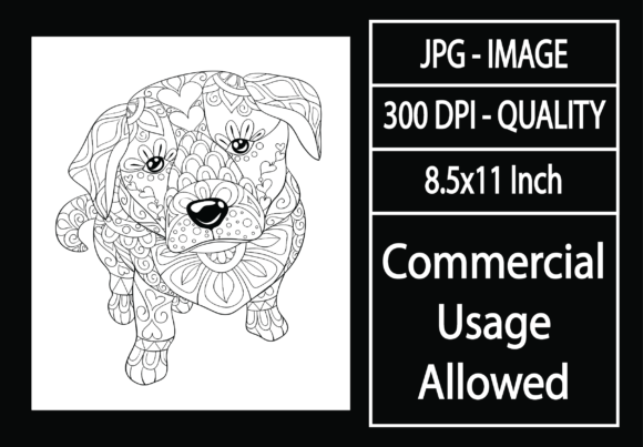 Print on Demand: Adult Coloring Page 9 - Dog Graphic KDP Interiors By design-world