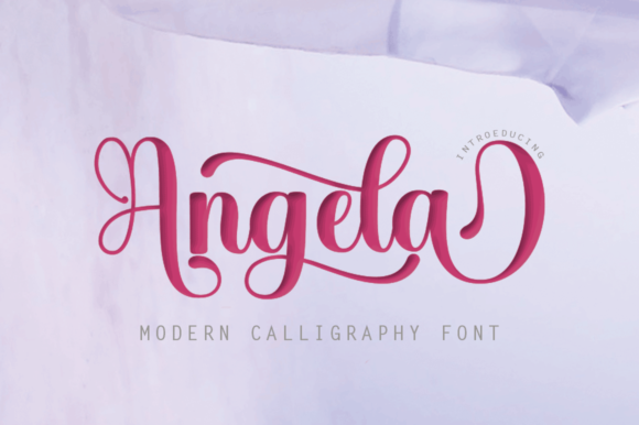 Print on Demand: Angela Script & Handwritten Font By Rt Creative