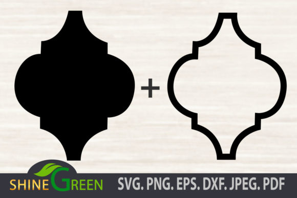 Print on Demand: Arabesque Silhouette, Outline Christmas Graphic Crafts By ShineGreenArt