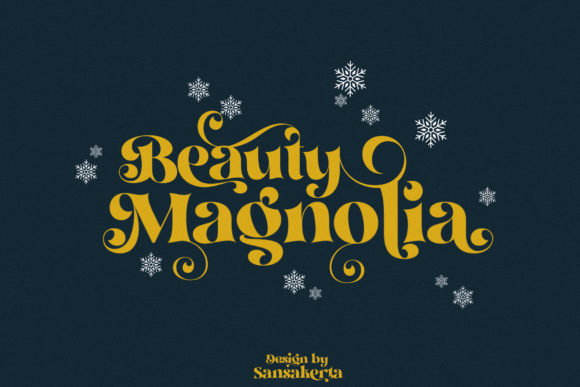 Print on Demand: Beauty Magnolia Display Font By dnartdesignn