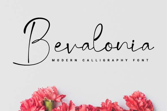 Print on Demand: Bevalonia Script & Handwritten Font By Prioritype