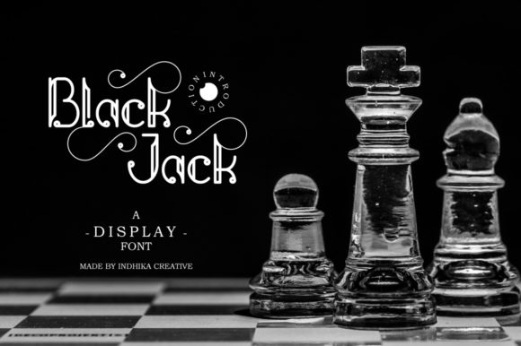 Print on Demand: Black Jack with Chessboard Display Font By InDhika