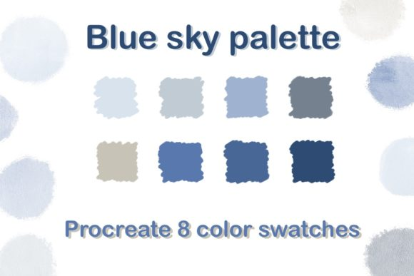 Blue Sky Color Palette Graphic Add-ons By Aloe_wannaart