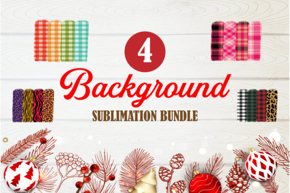 Print on Demand: Buffalo Plaid Background Bundle Designs Graphic Crafts By TripleBcraft