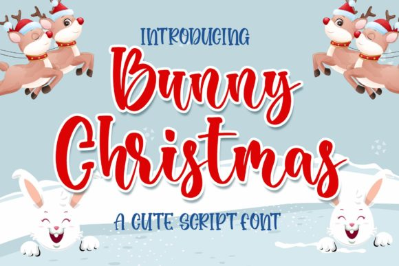 Print on Demand: Bunny Christmas Script & Handwritten Font By Blankids Studio