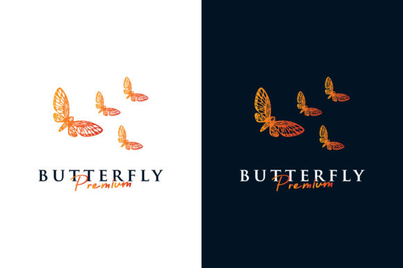 Butterfly Logo Premium Vector Graphic Logos By byemalkan
