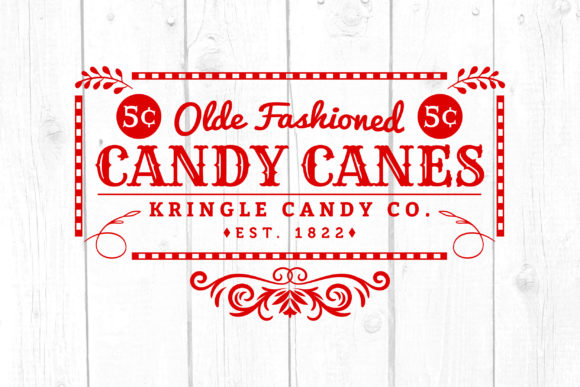 Candy Cane Old Fashioned Graphic Crafts By kaoticsvgdesigns