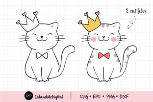 Cat Birthday Girl Svg. Graphic Illustrations By CatAndMe