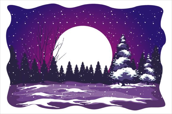 Print on Demand: Christmas Beauty Snow in Night Graphic Illustrations By edywiyonopp