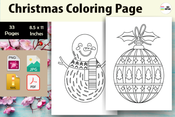 Print on Demand: Christmas Coloring Page for Kids - KDP Graphic Coloring Pages & Books Kids By Sei Ripan