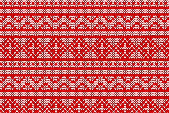 Christmas Knitted Pattern Graphic Download