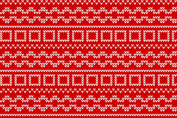 Christmas Knitted Pattern Graphic Item