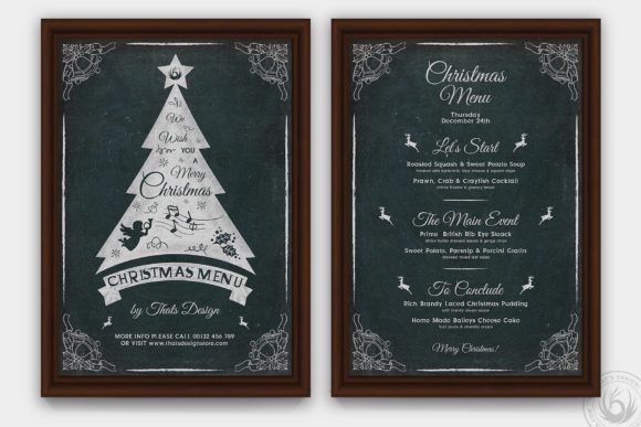 Christmas Menu Template V5 Graphic Print Templates By ThatsDesignStore