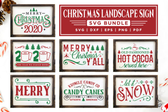 Christmas Sign SVG Bundle Graphic Crafts By CraftlabSVG