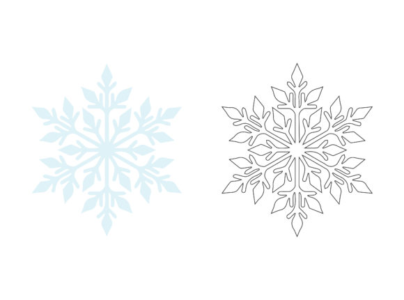 Christmas Snowflake Fill Outline Icon Graphic Crafts By printablesplazza