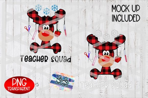 Christmas Teacher Squad Plaid Reindeer Graphic Crafts By Lori Lou Designs
