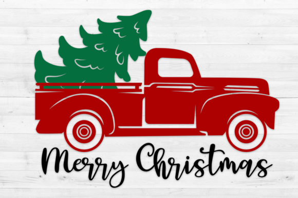 Christmas Truck 2, Svg, Png, Dxf, Eps. Graphic Crafts By LightBoxGoodMan