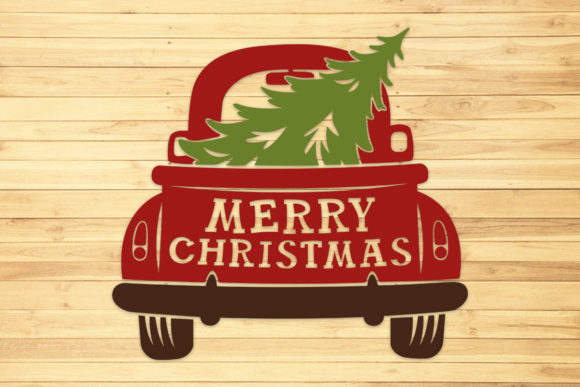 Christmas Truck, Svg, Png, Dxf, Eps. Graphic Crafts By LightBoxGoodMan
