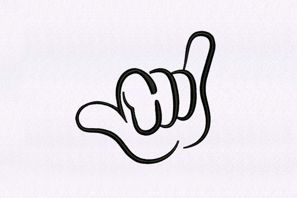 Cool Hand Gesture Embroidery