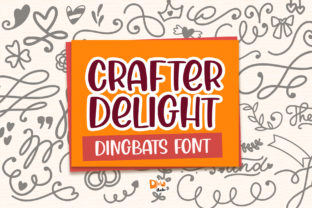 Print on Demand: Crafter Delight Dingbats Font By dmletter31