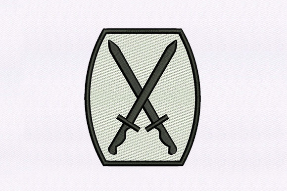 Crossed Blades Toys & Games Embroidery Design By DigitEMB