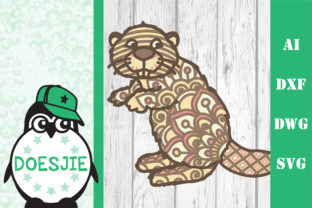 Cute Beaver SVG Glowforge 3d Layered Graphic 3D SVG By doesjie