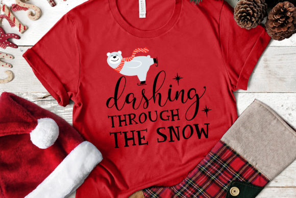 Dashing Through the Snow Graphic Crafts By kaoticsvgdesigns