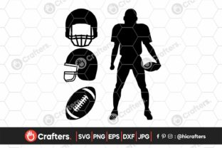 Football Helmet, Football Player Graphic Crafts By HiCrafters