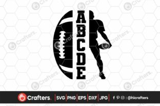 Football Player Shirt, Half Football Graphic Crafts By HiCrafters