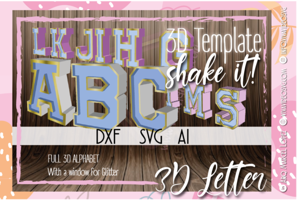 Print on Demand: Full 3D New Alphabet + Shaker Graphic 3D SVG By Marcel de Cisneros
