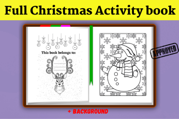 Full Christmas Activity Book (KDP) Graphic Download