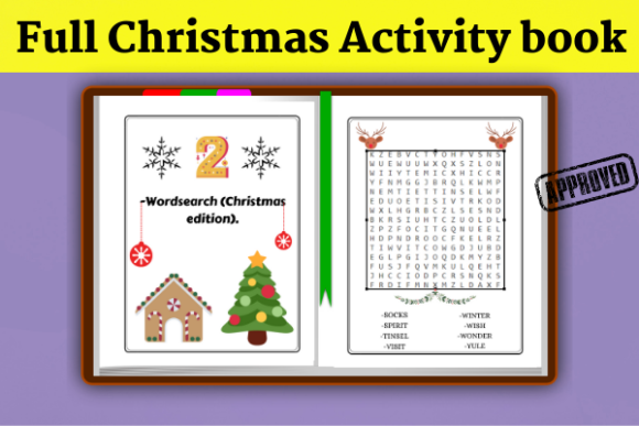 Full Christmas Activity Book (KDP) Graphic Item
