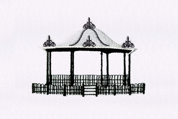 Gazebo House & Home Embroidery Design By DigitEMB