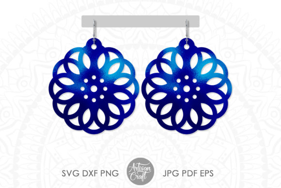 Print on Demand: Geometric Earrings Cut File Graphic 3D SVG By Artisan Craft SVG