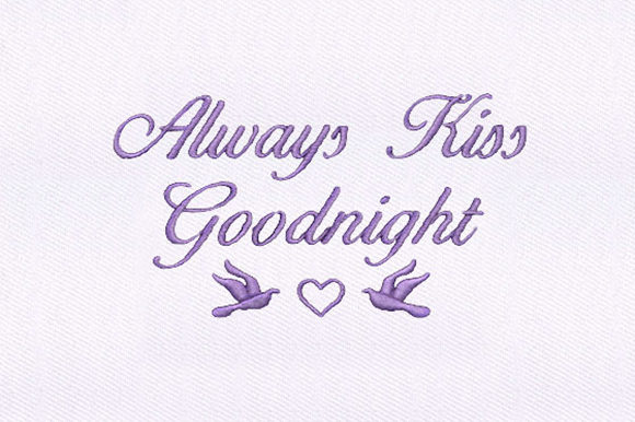 Goodnight Kiss Babies & Kids Embroidery Design By DigitEMB