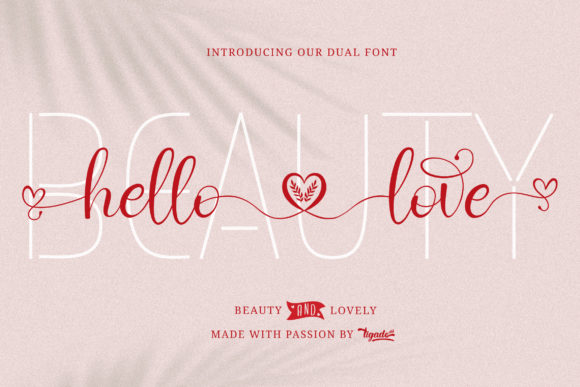 Print on Demand: Hello Love Script & Handwritten Font By Tigade std