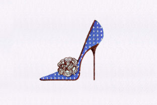 High Heel Shoe Clothing Embroidery Design By DigitEMB