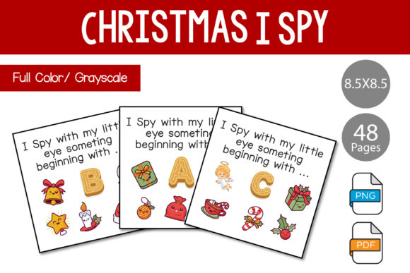 Print on Demand: I Spy for Kids. Christmas  Theme. Graphic KDP Interiors By IsaraDesign