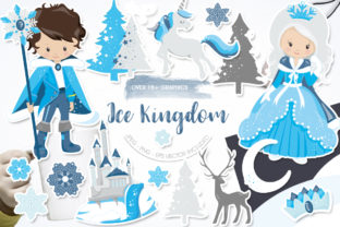 Print on Demand: Ice Kingdom Grafik Illustrationen von Prettygrafik