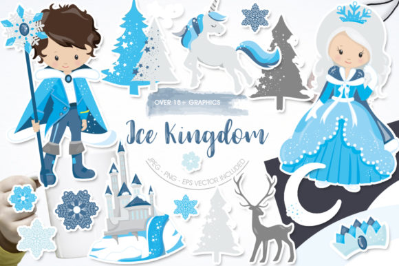 Print on Demand: Ice Kingdom Graphic Illustrations By Prettygrafik
