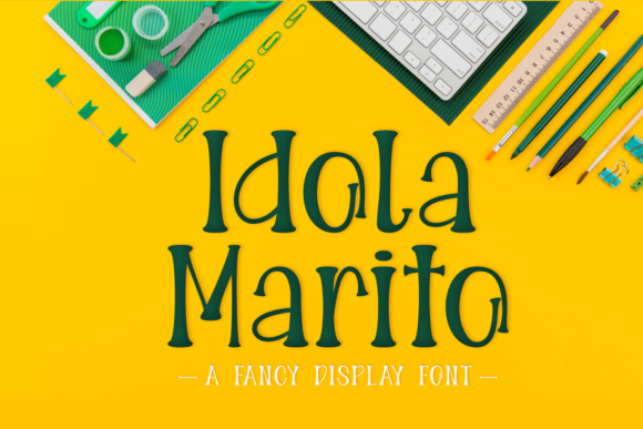 Print on Demand: Idola Marito Display Font By Lian-7NTypes