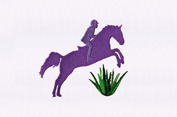 Jockey and Horse Jumping Horses Embroidery Design By DigitEMB